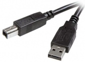 Каб USB A-B Vivanco 45206 1.8м= чёр/мет